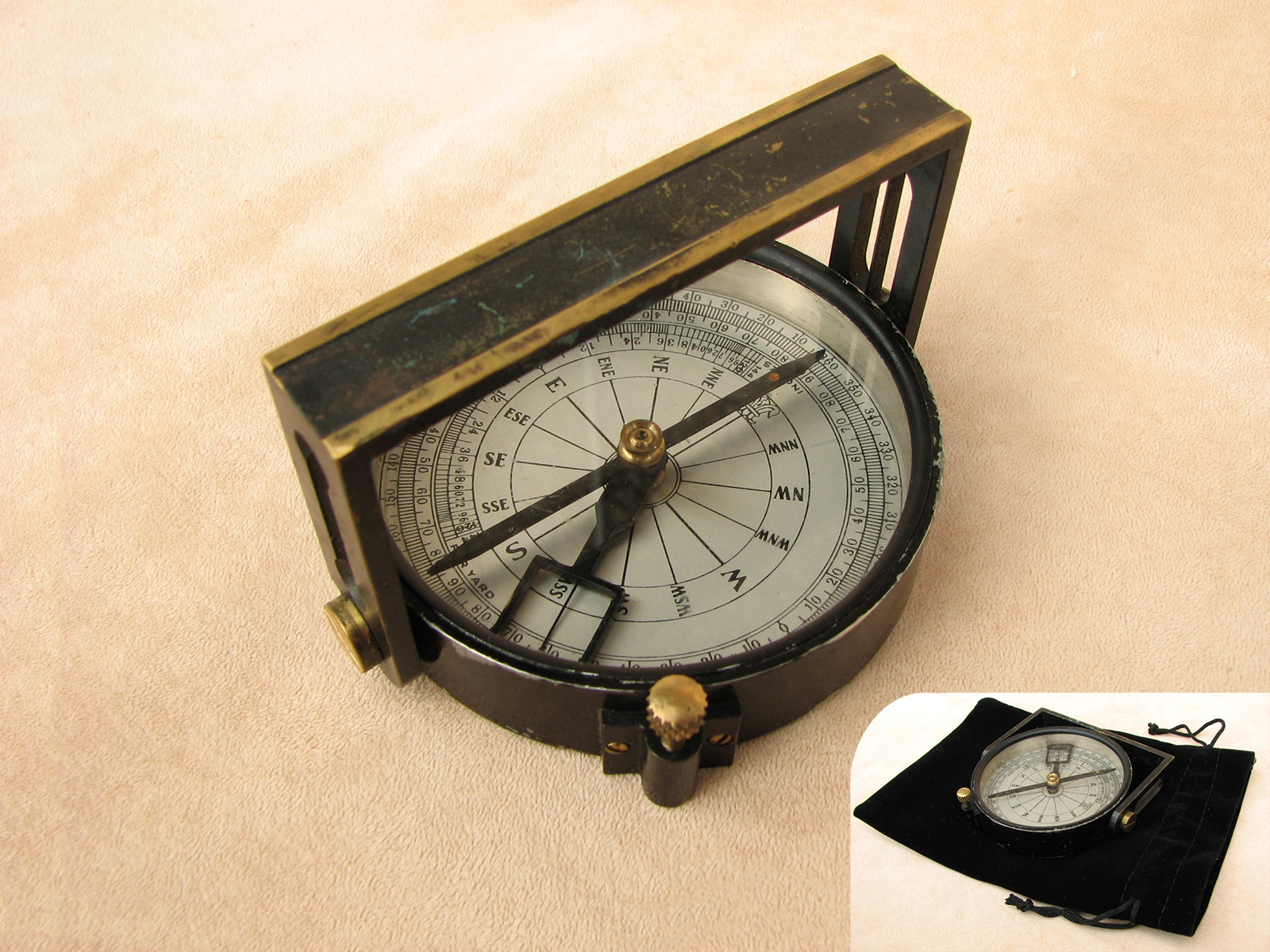 J H Steward Handle compass with clinometer
