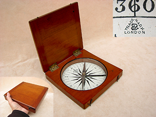 Francis Barker large Victorian desk top compass