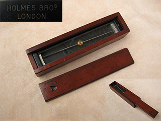Holmes Bros trough compass in mahogany case- circa 1930'scompass