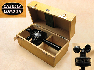 Post WW2 Casella hand held anemometer in fitted case