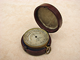 Antique pocket barometer owned by Rev'd Robert Young, dated 1872