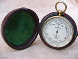 Army & Navy aneroid pocket barometer with altimeter