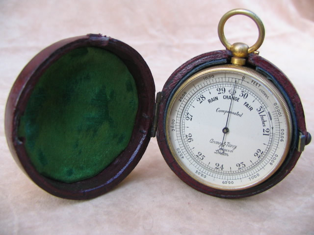 Army & Navy pocket barometer with altimeter