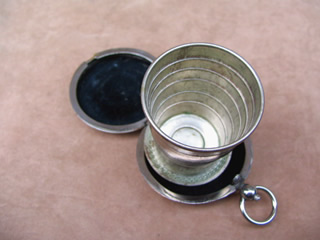 Top view of stirrup cup