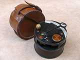 1918 pocket sextant with leather case
