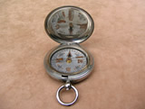 British Army Officers hunter cased pocket compass dated 1916