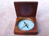 Victorian mahogany cased pocket compass by T B Winter Newcastle
