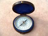 Victorian pocket compass circa 1850