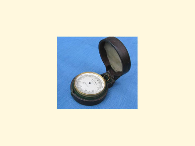 Antique pocket barometer/altimeter