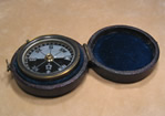 Victorian pocket compass with Mother of Pearl dial