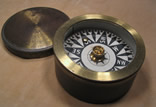 Early 19th century brass cased boat compass