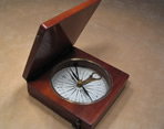 Mahogany cased compass & clinometer by James White, Glasgow