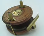 Starback reel with brass flange