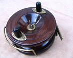 "1920's Nottingham style 5"" brass starback fishing reel"