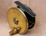 "3"" brass plate wind fishing reel signed  A & NCSL"