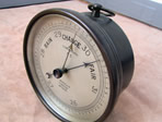 WW1  brass cased naval barometer T Wheeler