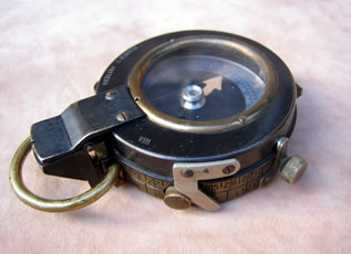 S Mordan Verner's prismatic marching compass 1917