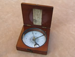 Mid Victorian combined compass clinometer