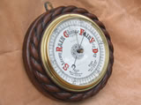 19th century rope twist aneroid barometer by G R Eve & Co