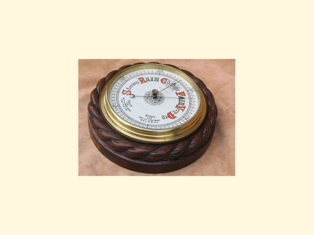 19th century mahogany rope twist barometer by G R Eve