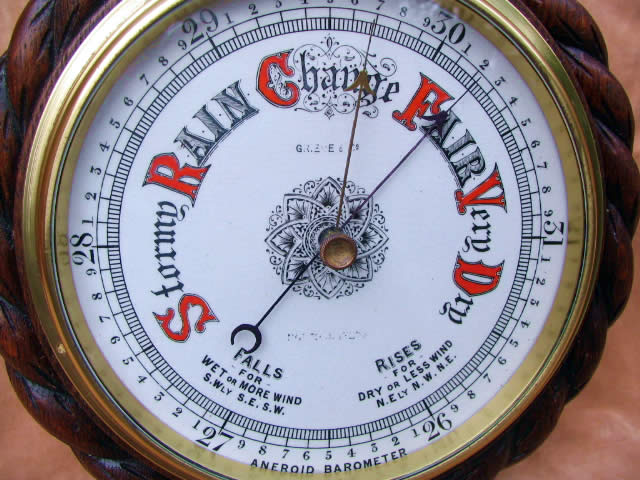 Aneroid barometer by G R Eve & Co