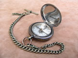 Negretti & Zambra pocket compass with chain
