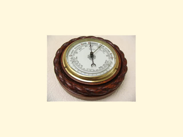 19th century aneroid barometer by Gray & Selby, Nottingham