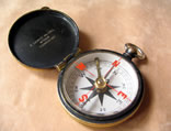 English cross bar needle pocket compass Lennie Edinburgh