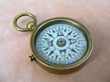 Victorian open faced brass pocket compass