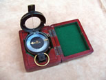1916 British army marching compass in fitted mahogany case