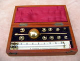 19th century Sikes hydrometer set