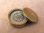 Early Victorian brass cased pocket compass