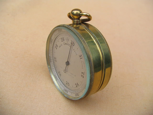 Early 20th century pocket barometer by Moody Bell & Lamb Cheltenham Spa