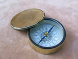 19th century Negretti & Zambra pocket compass circa 1860