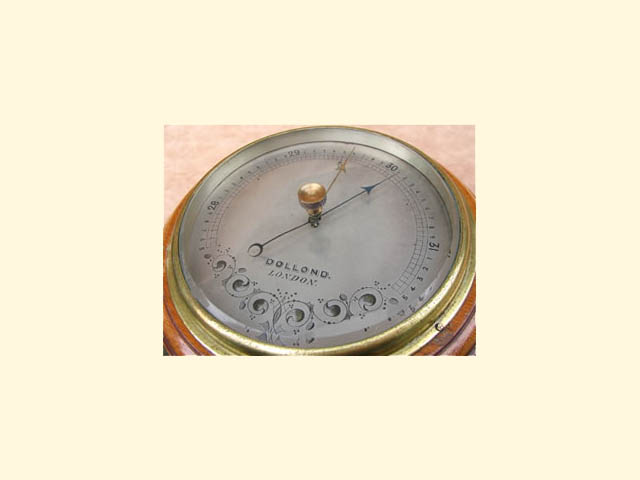 Aneroid wall barometer by Dollond London circa 1910