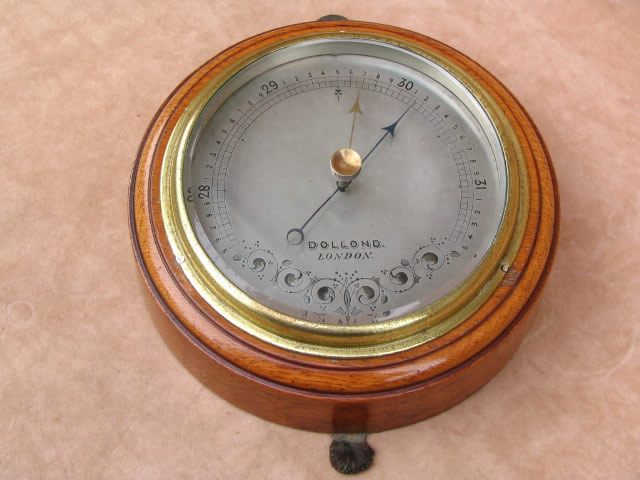 Edwardian aneroid wall barometer by Dollond London