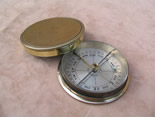 Victorian brass cased pocket compass by Short & Mason London
